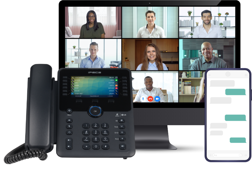 Multiple devices including a mobile, a voip phone and a desktop