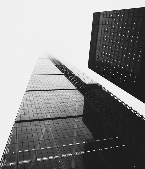 skyscraper , city , black and white , towers